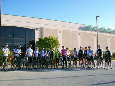 All 15 riders, and Karen, who will be there to take care of any mechanical needs.