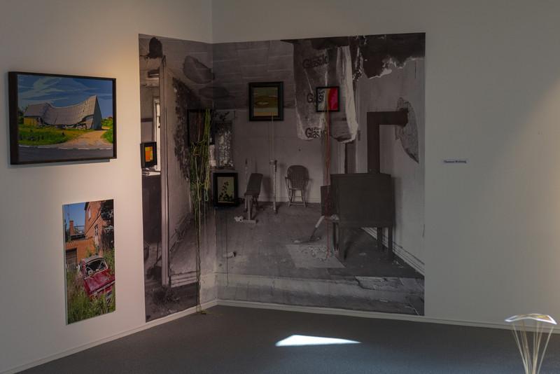 Vestjyllands Kunstpavillon - LOCAL HEROES 15-09 - 28.10.2012<br /> Artist: Thomas Wolsing (Kollapset Hus. Stramajbroderi)<br /> <br /> Videbæk Sept 22 2012 @ 14:49