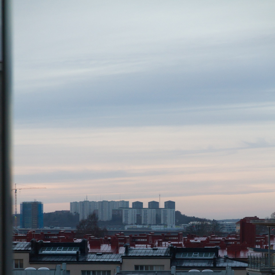 View from Clarion Hotel, Skanstull, towards south.