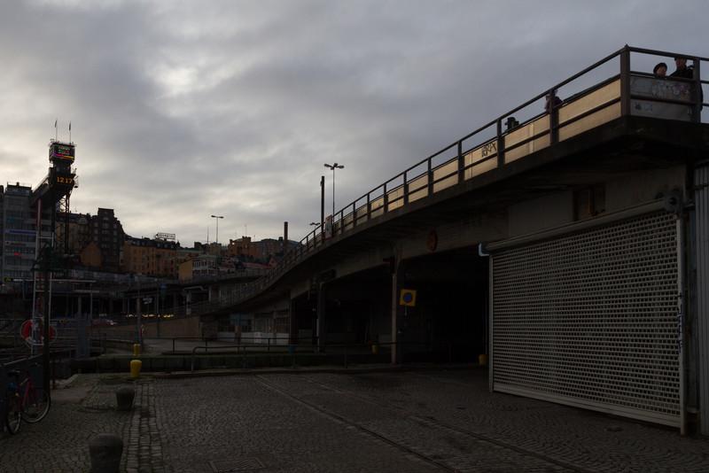 Skeppsbron - Slussen. Katarinahissen.