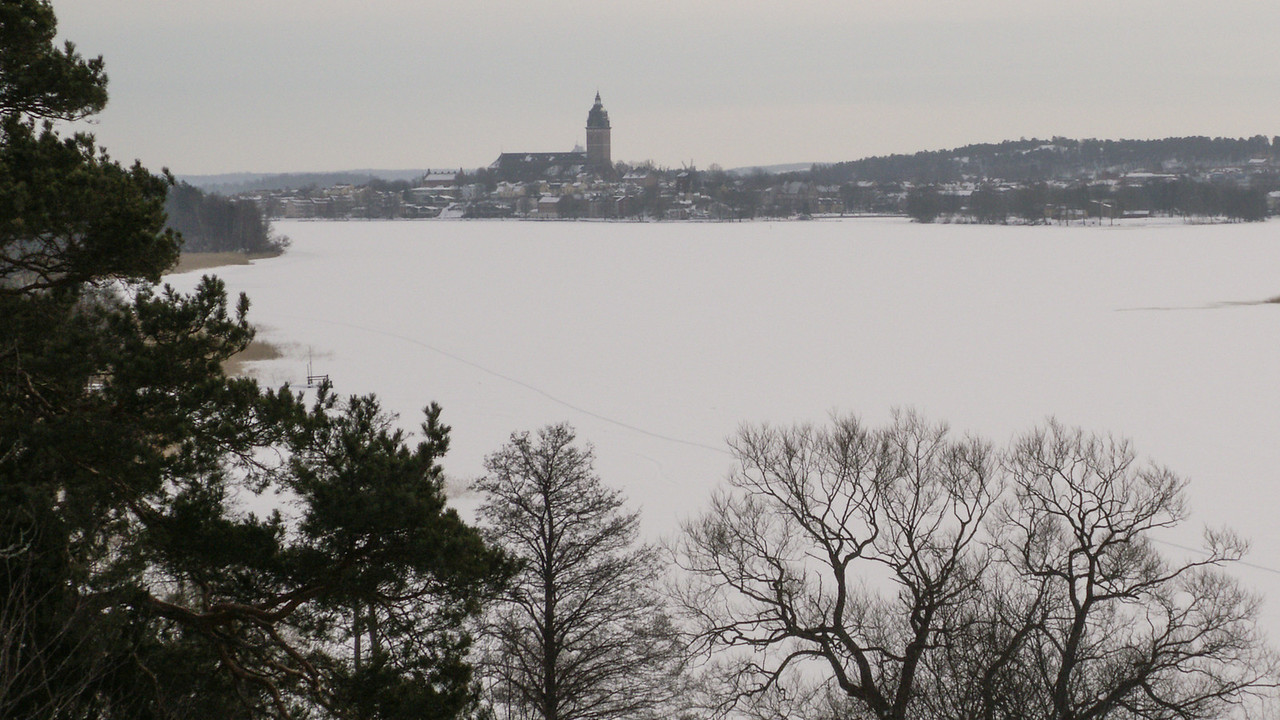 The town seen from the north west, at Stenby Skans. 2007 Feb 17 @ 12:22