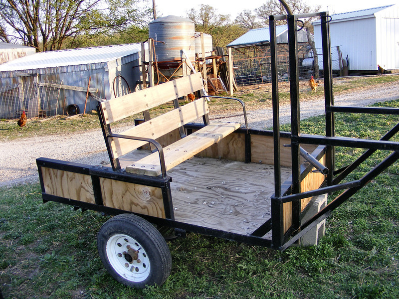 """The Donkey Cart has a """"Bench"""" Seat."""