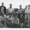 P00144  Twelve sailors in work uniform on main deckjpg