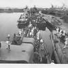 P00164 Taylor coming alongside, astern of USS Lansdowne DD 486, Tokyo, 1945