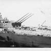 P00088 Afterdeck, USS Missouri, as Taylor approaches, 2 September, 1945