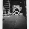 P00046 Sailor in dress blues on deck with USS TAYLOR DD 468 life ring EDGAR