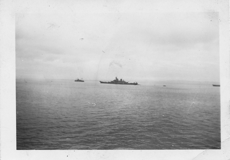 P00163 Task Force from main deck (probably TF 38, Missouri, September, 1945)