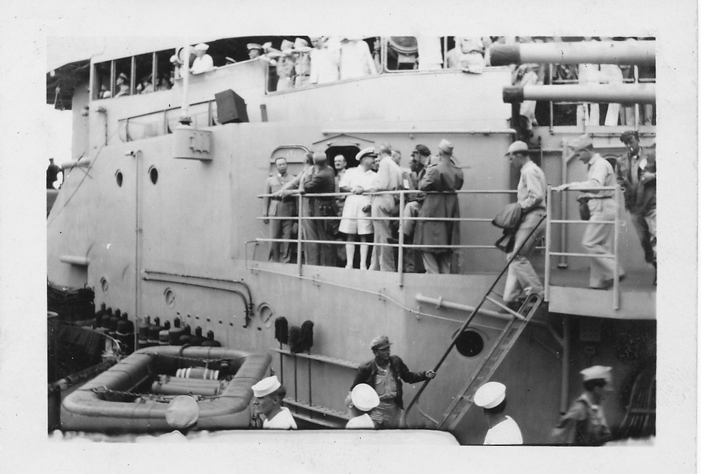 P00173 Dignitaries aboard USS Missouri, 2 September, 1945