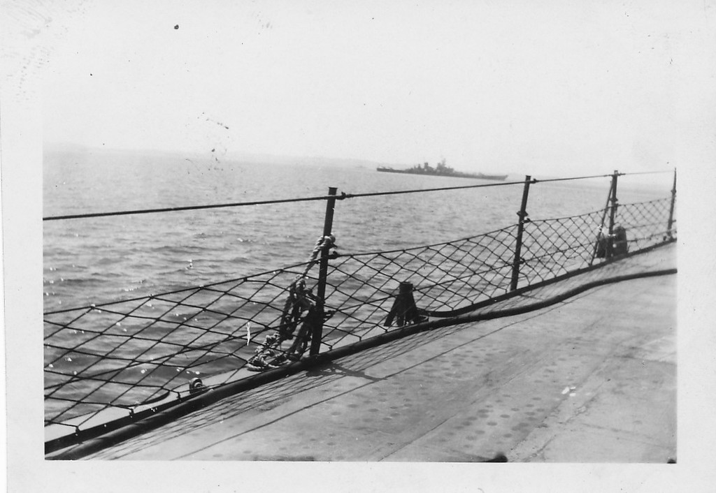 P00155 Battleship from main deck (probably Missouri, September, 1945)