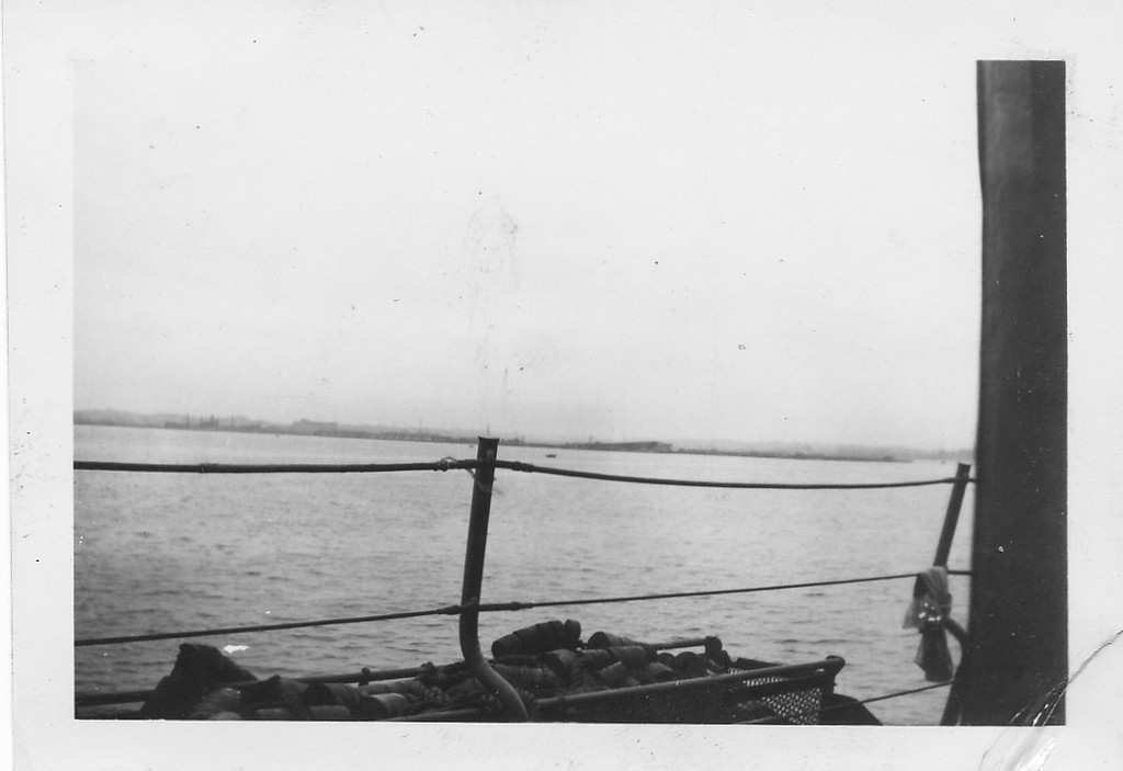 P00165 View of mainland from Taylor (probably Tokyo, 1945)