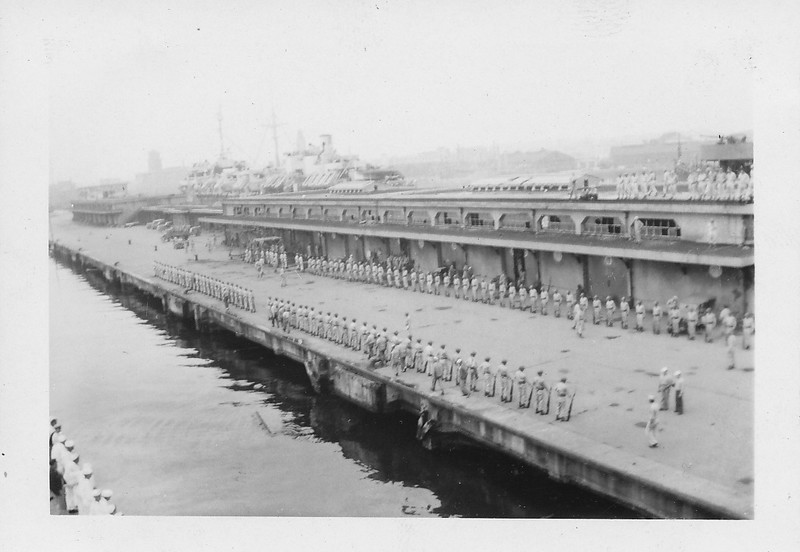 P00148 reviewing troops on the pier (location, time unknown)