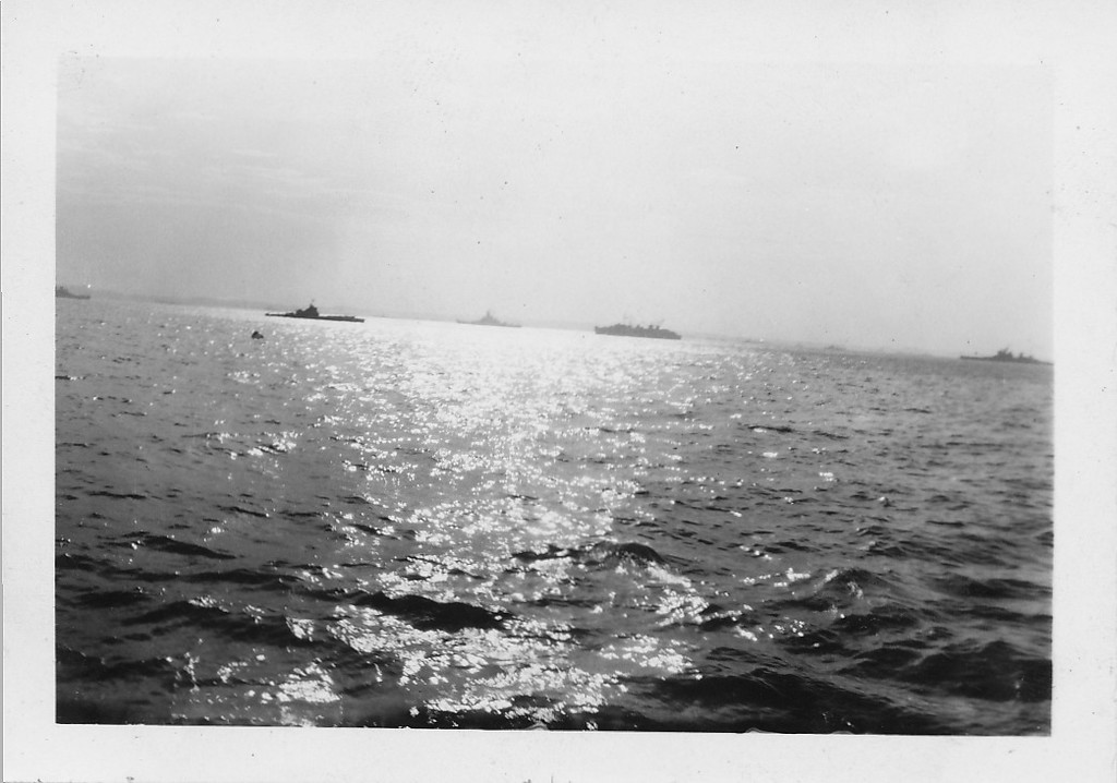 P00156  Task Force from main deck (probably TF 38, Missouri, September, 1945)