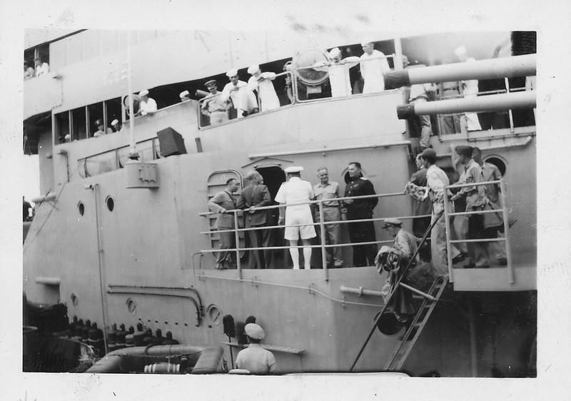 P00172 Dignitaries aboard USS Missouri, 2 September, 1945