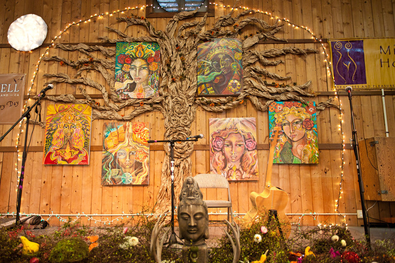 Each year a most wondrous tree 'returns', to root our Sacred Space and hold us all in the boughs of Her embrace.