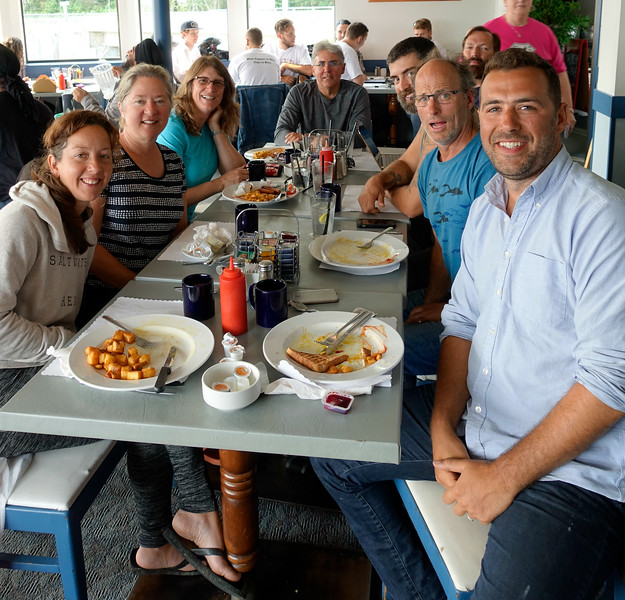 Cindy organized the traditional after-GP breakfast.  Jason was our divemaster in 2015 and Elizabeth kept the resort running smoothly.