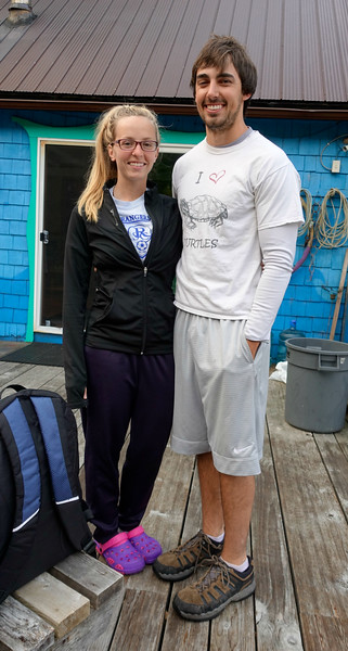 Megan was our wonderful all-around resort staff and Mitchell (Mitch) Tarn was our trusty divemaster.