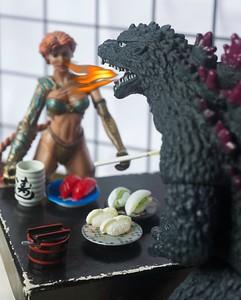 Godzilla's sushi date