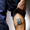 "Nathan Rapheld (10/26/06)<br /> Jay McInerney is such as Detroit Tigers fan, he had their logo tattooed on his leg. ""I've had it since they weren't doing well"", says McInerney."