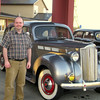 Stu with the 1938 Packard.
