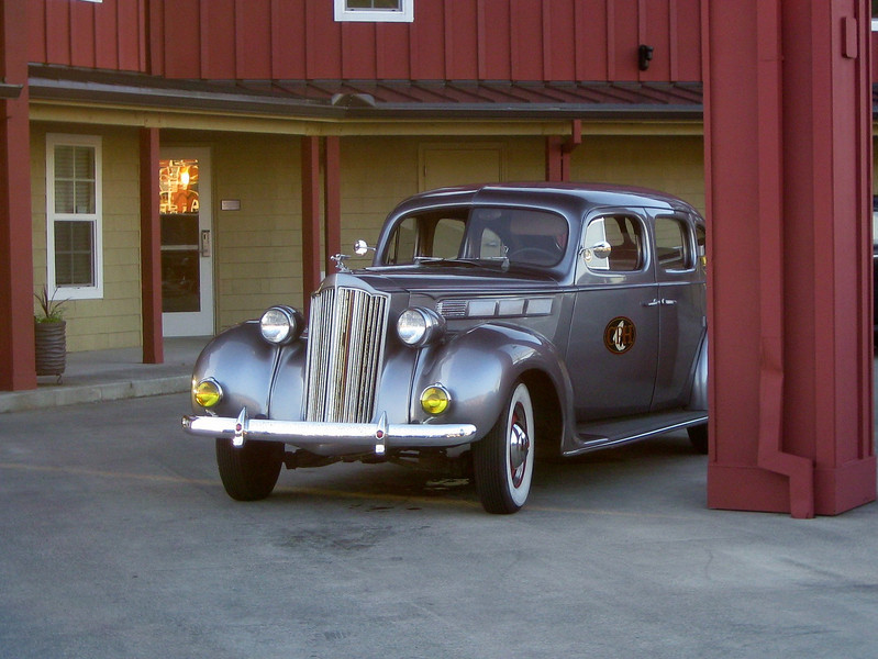 The 1938 Packard. Our chauffeur drove us to dinner in this beautiful car.