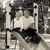 Mum and Dad on the slide