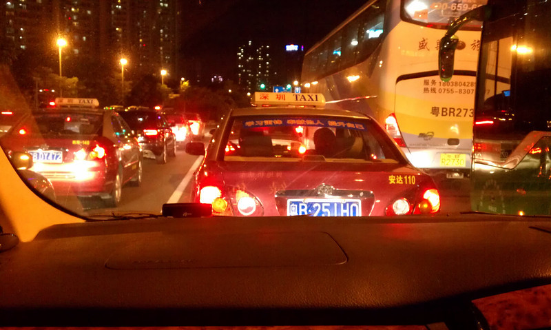 Taxi in Hong Kong.