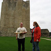 Dad and Meaghan at Conisbrough castle.