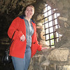 Meaghan inside the castle walls.