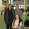 Mum, Dad, and Stu at Manchester Airport.