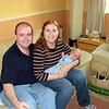 Stuart and Meaghan with baby Oscar.