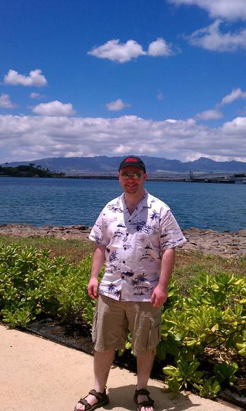 Stu at Pearl Harbor