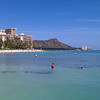 Diamond head and Waikiki beach.