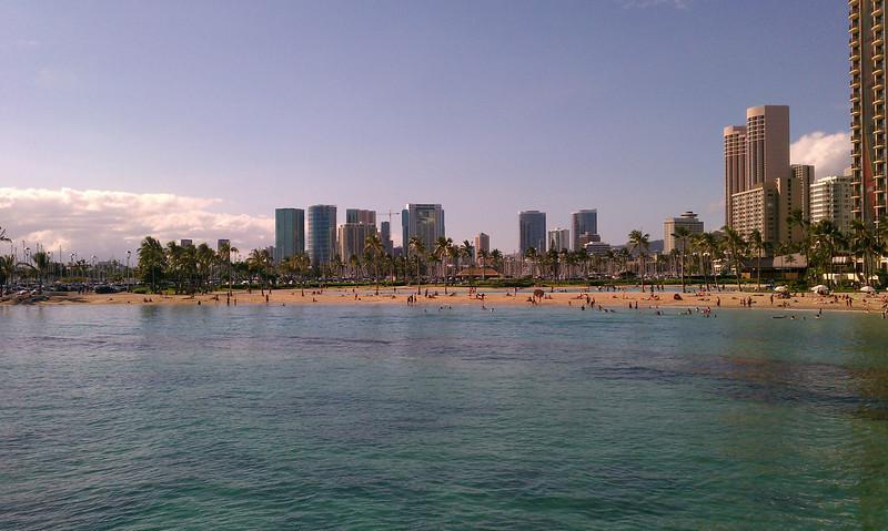 West side of Waikiki beach.