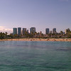 West side of Waikiki beach.