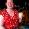Meaghan with a margarita at Margaritaville