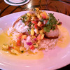 Stu's phenomenal Pineapple Mango fresh fish at Bubba Gumps.