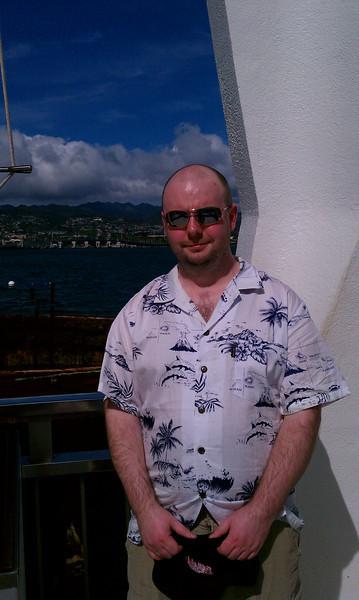 Stu at the Arizona memorial in Pearl Harbor.