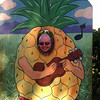 Stu as a pineapple at the Dole plantation.