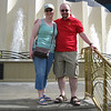 Meaghan and Stuart on the steps of the MGM.