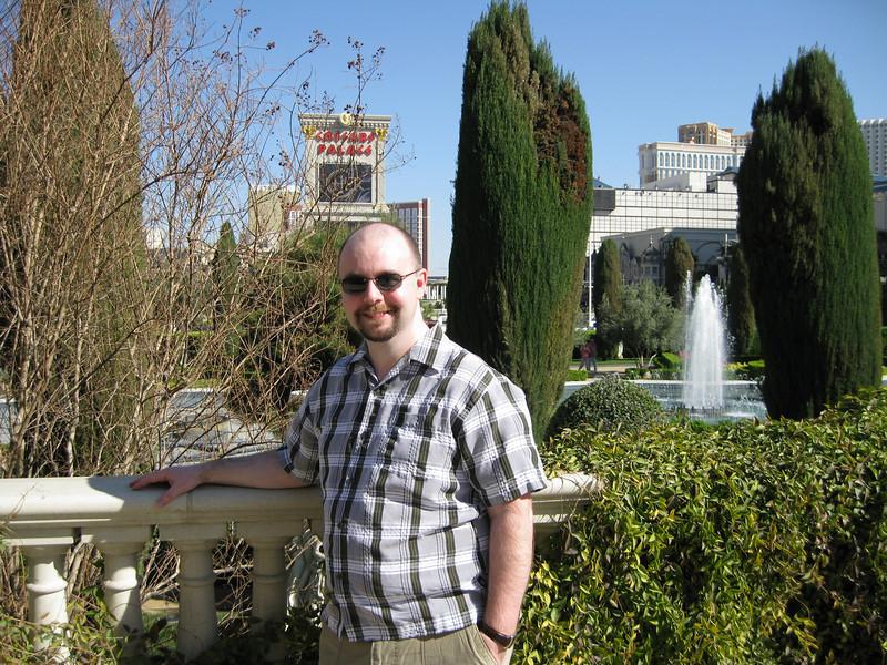 Stu at Caesar's Palace.