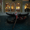 The gondolas inside the Venetian.