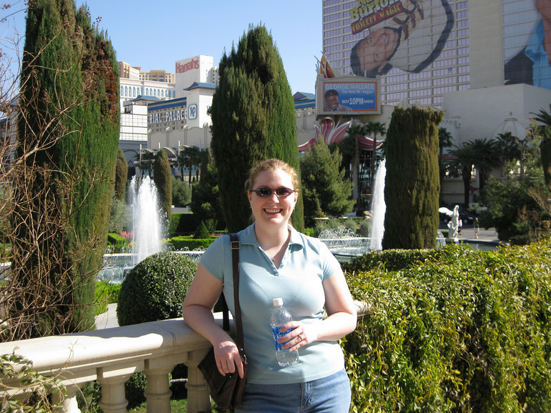 Meaghs at the gardens at Caesar's Palace.