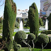 The gardens at Caesar's Palace.