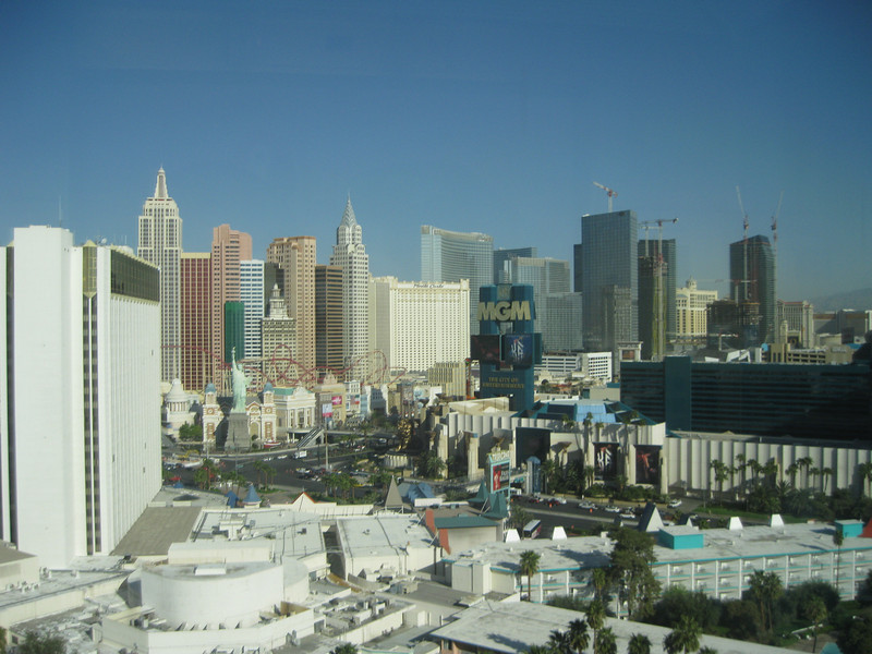 View from the Tropicana elevator.