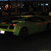 A Lamborghini cruising the streets of Las Vegas.