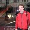 Stu outside the Steinway store in Seattle.