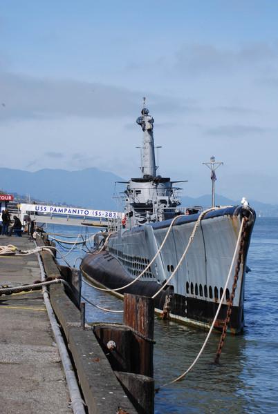 USS Pampanito at Fisherman's Wharf in San Francisco
