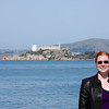 Meaghan standing in front of Alcatraz