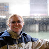 Meaghan on Alcatraz tour boat.