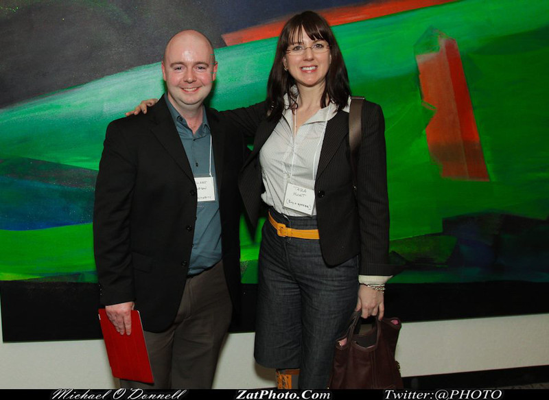 Stu Thompson and Tara Hunt at the Women 2.0 PITCH Conference in San Francisco.